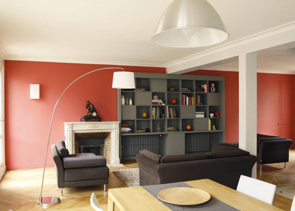 Monceau, un appartement familial Salon par homify