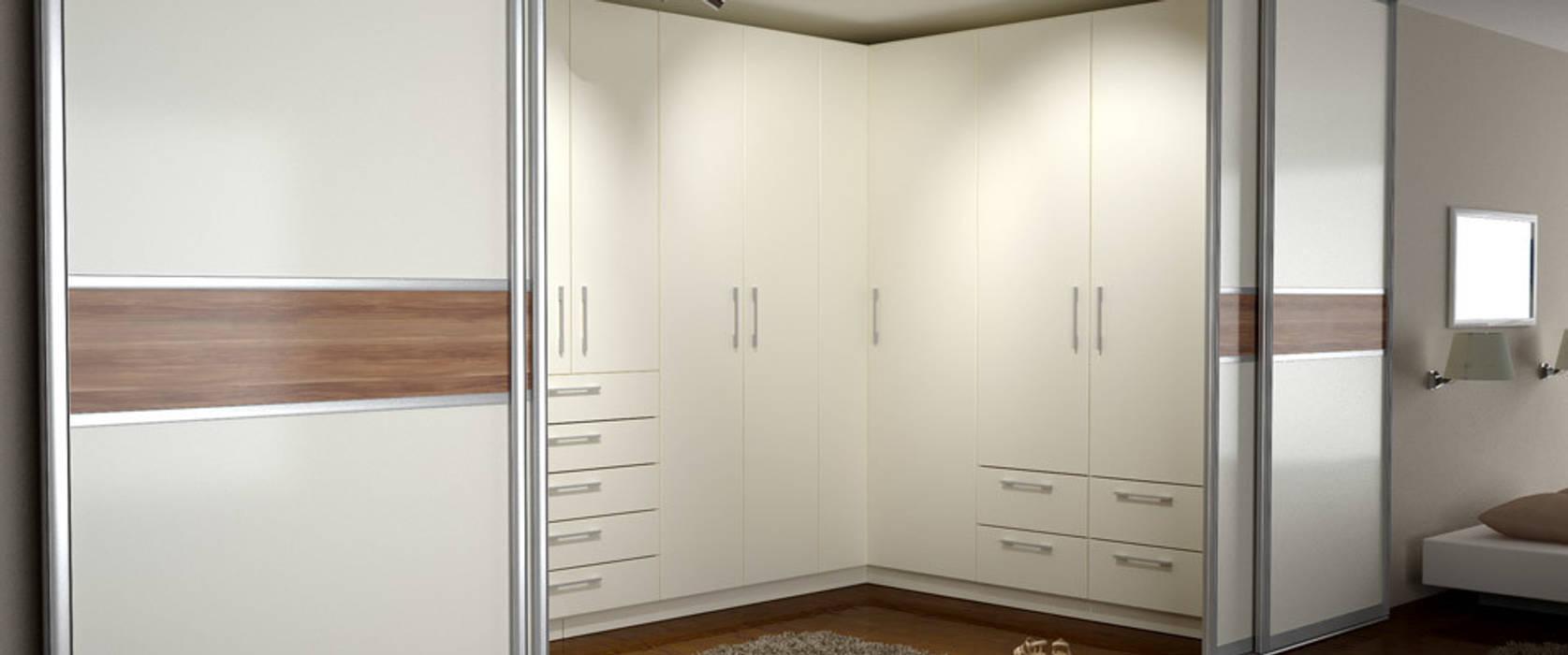 Eckschrank mit schiebetüren: moderne schlafzimmer von deinschrank.de ...
