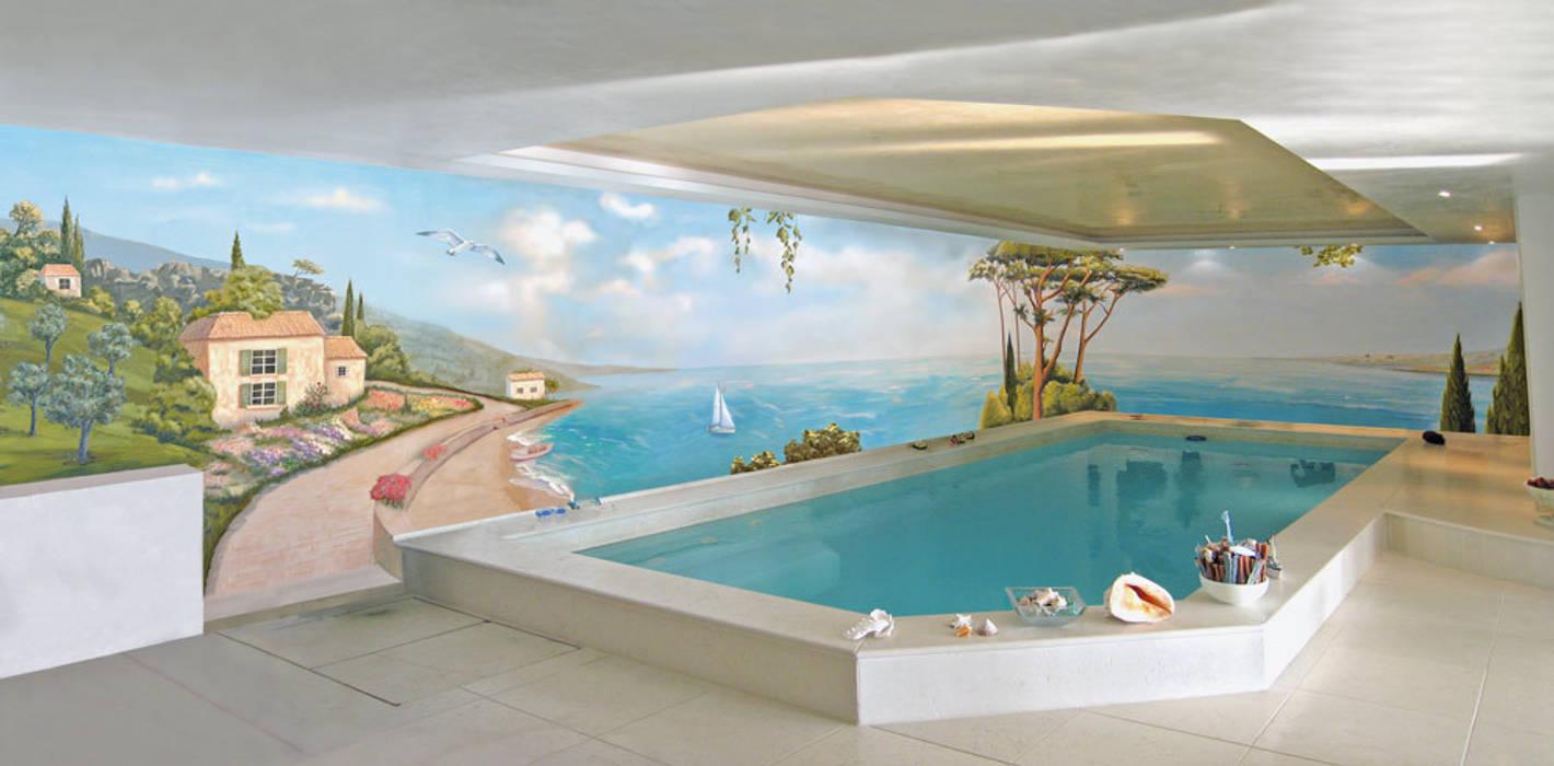 Wandmalerei Schwimmbad Mediterrane Pools von Studio Witti - Atelier für Gestaltung Mediterran