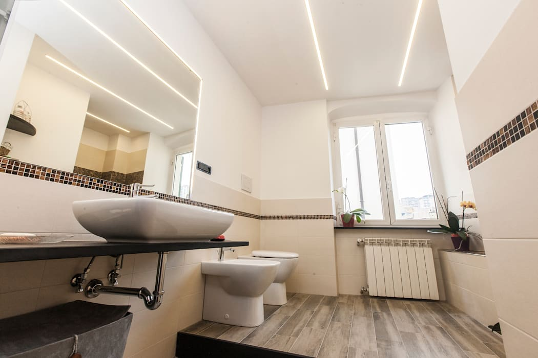 Bathroom genova: bagno in stile di architetto paola baratta homify