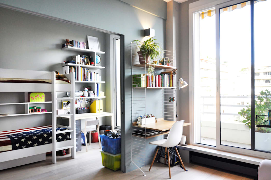 Appartement paris xvi bureau de style par barbara sterkers