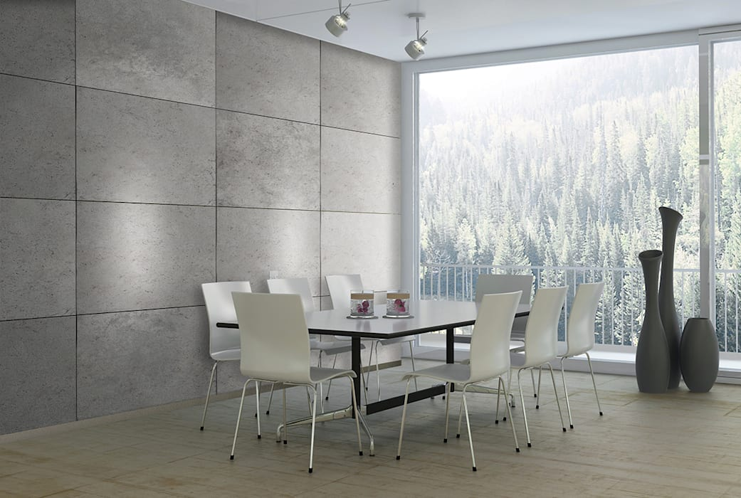 Beton-Optik Modell CONCRETE:  Esszimmer von Loft Design System Deutschland