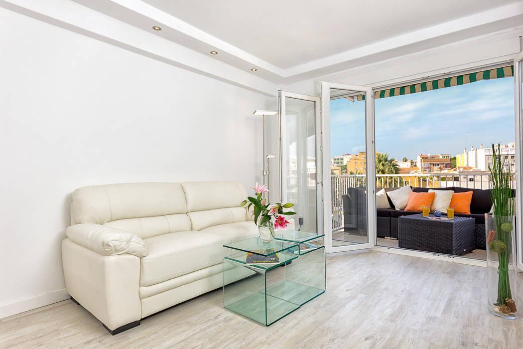 Salón y terraza Espacios y Luz Fotografía Livings de estilo moderno