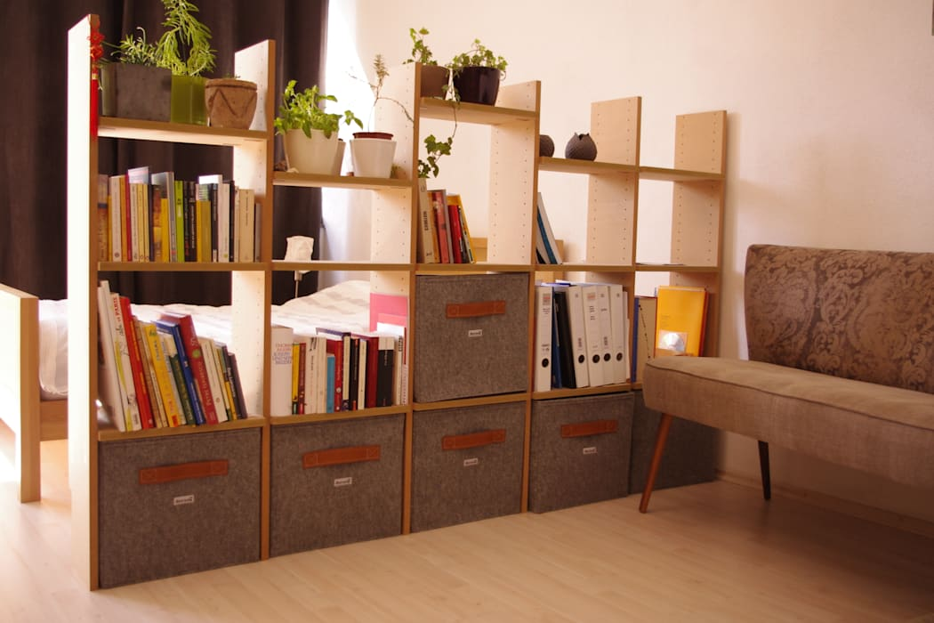modern  by Stich-haltig, Modern Textile Amber/Gold