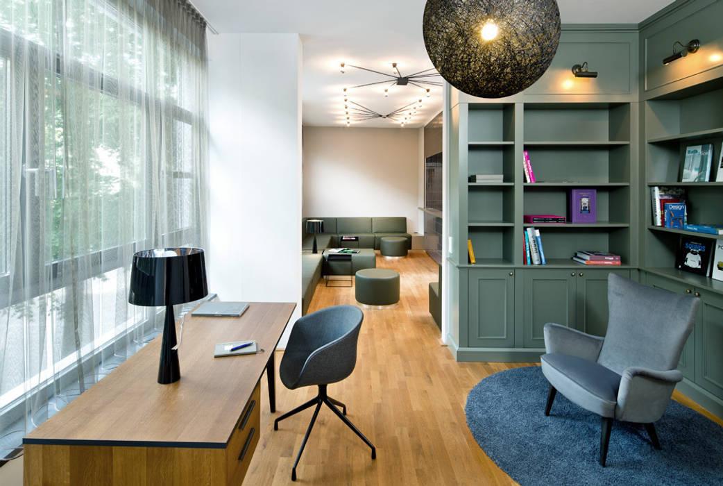 Cityloft Berlin Modern Study Room and Home Office by DITTEL ARCHITEKTEN GMBH Modern