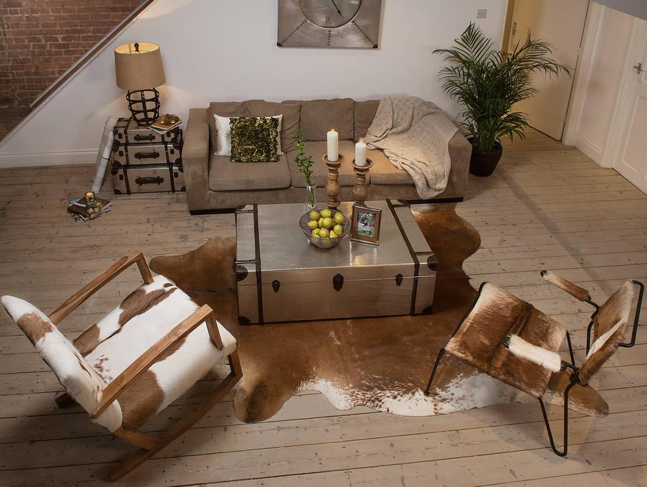 Natural Hide Rocking Chair de puji Moderno