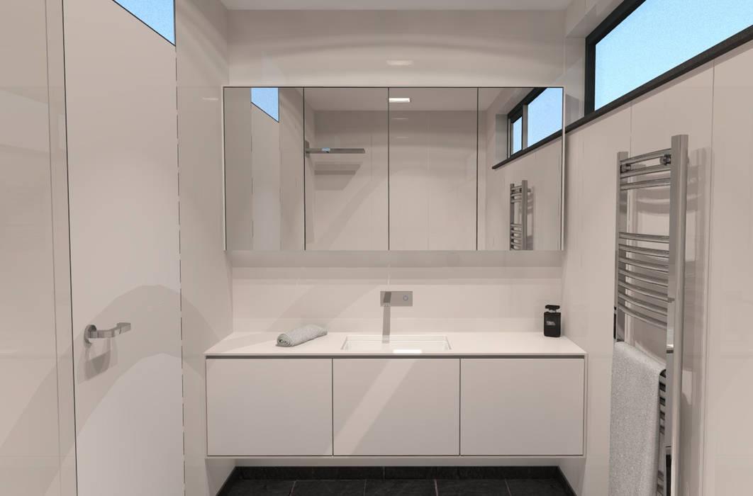 Badkamerkast 'White' Minimalistische badkamers van AD MORE design Minimalistisch