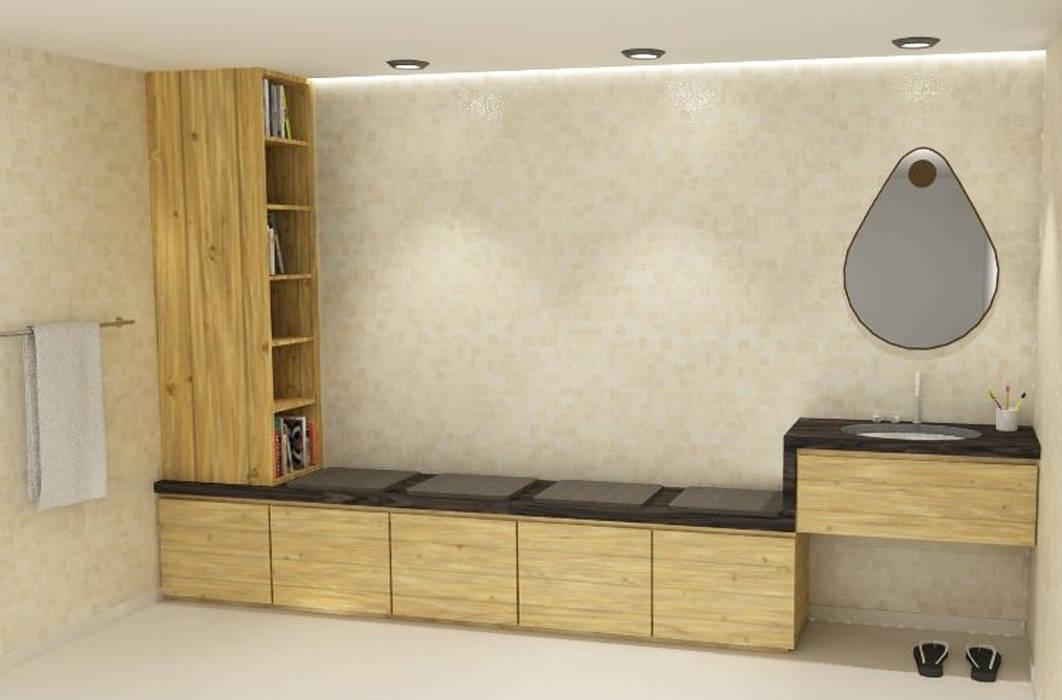 Badkamerkast 'Duplo':  Badkamer door AD MORE design