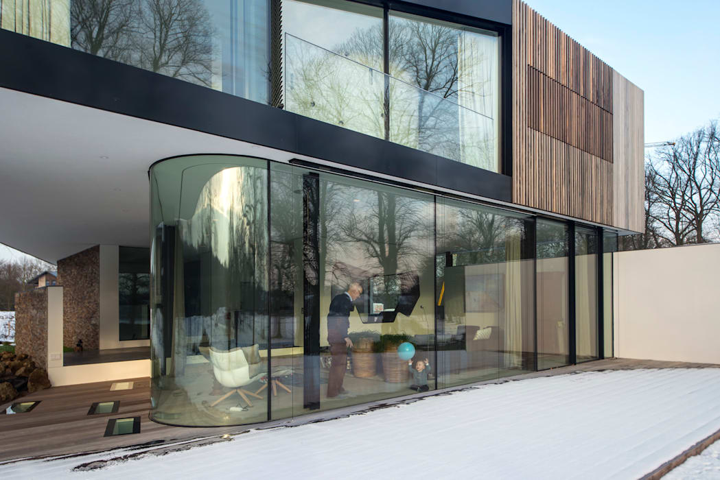 123DV Moderne Villa's Modern windows & doors