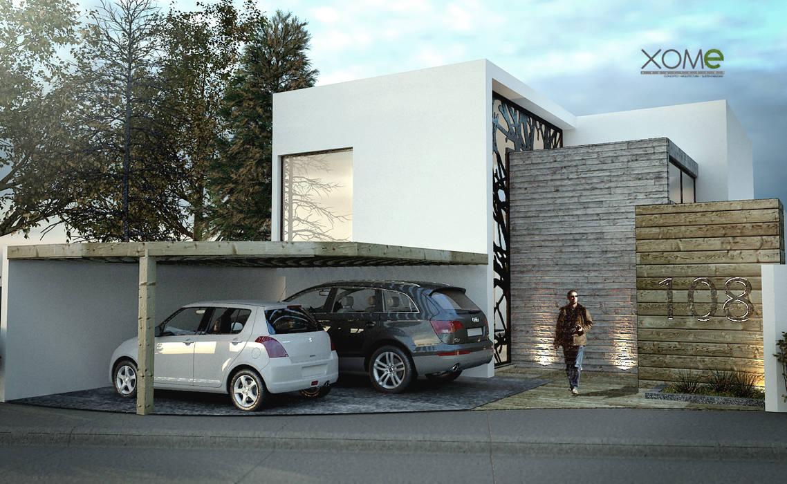 FACHADA PRINCIPAL: Casas de estilo  por Xome Arquitectos