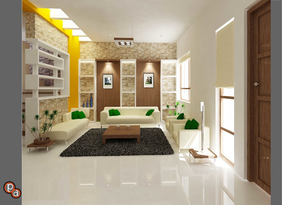Living spaces Minimalist living room by Preetham Interior Designer Minimalist