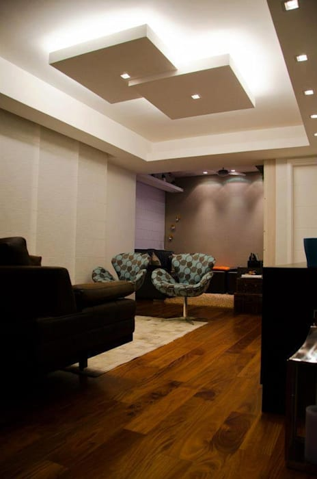 Sala de Estar Salas de estar modernas por Paula Werneck Arquitetura Moderno