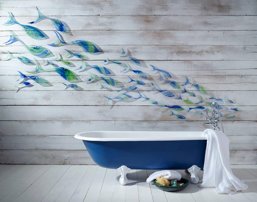 Shoaling Fish:  Bathroom by Jo Downs