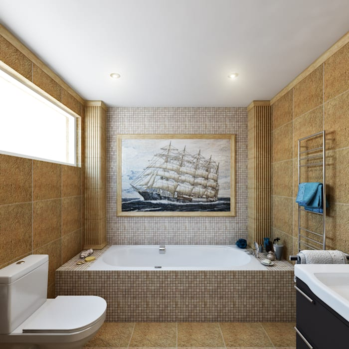Master Bathroom Bathroom by Hampstead Design Hub