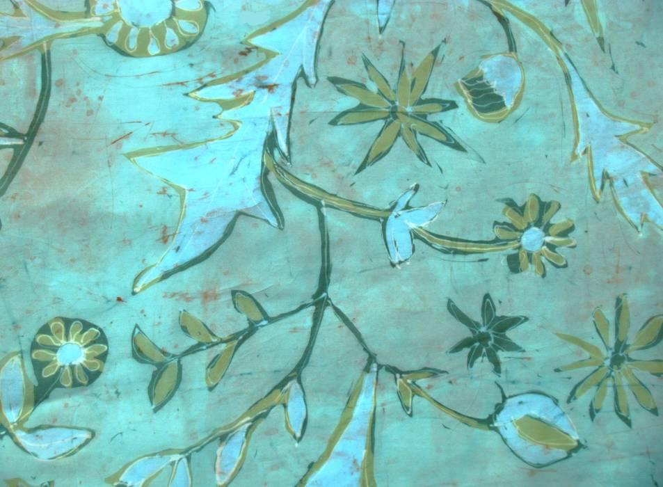 flora textile pattern:   von ATELIER IRENE SEMELKA,Klassisch Textil Bernstein/Gold