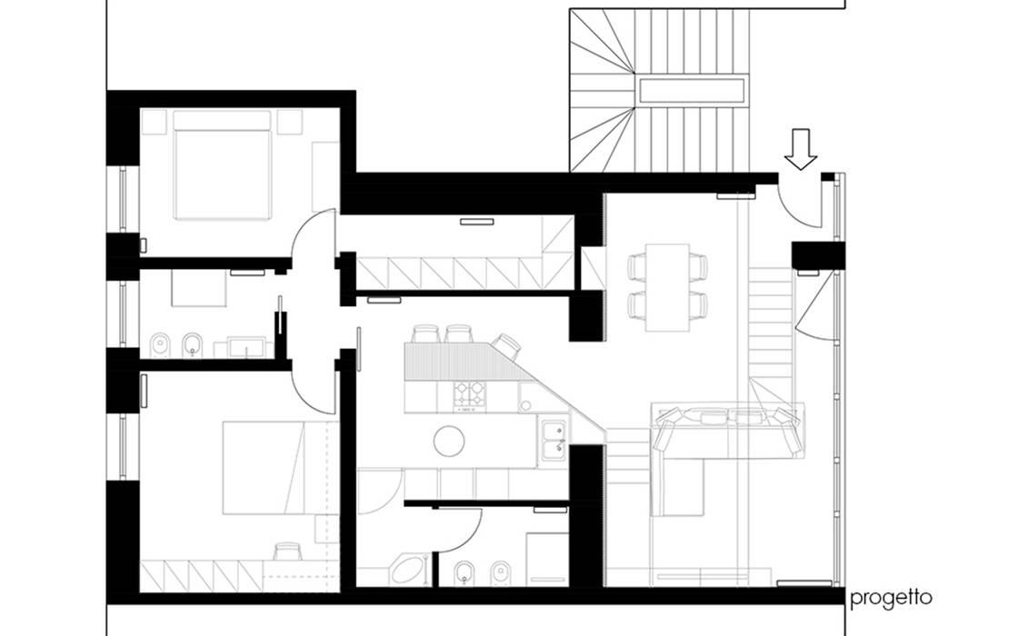 CASA GT: Case in stile in stile Moderno di MCArc Laboratorio di architettura sostenibile