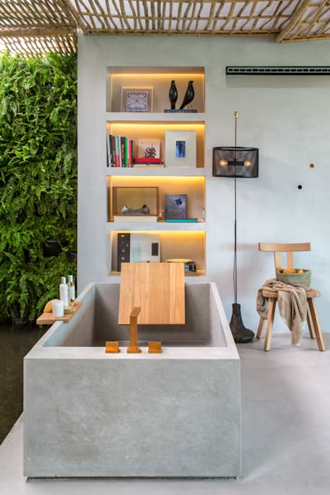 Loft Tropical - Casa Cor 2014 Banheiros modernos por Gisele Taranto Arquitetura Moderno