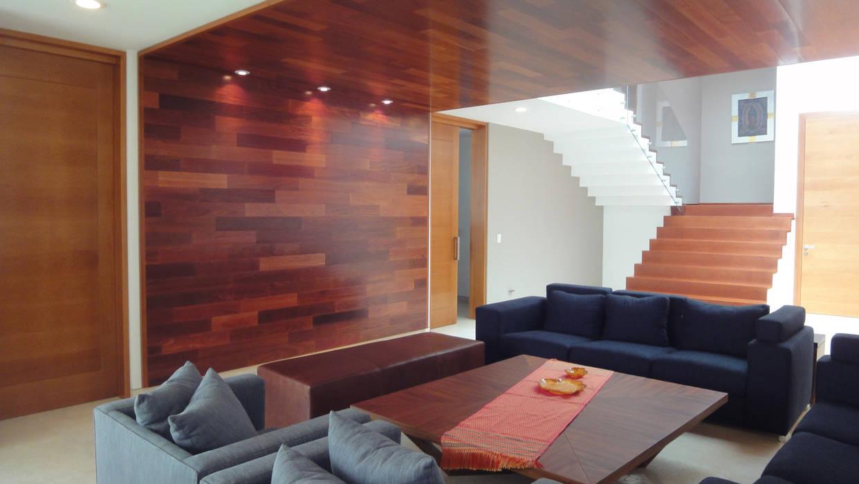 Casa AA: Salas de estilo  por ze|arquitectura