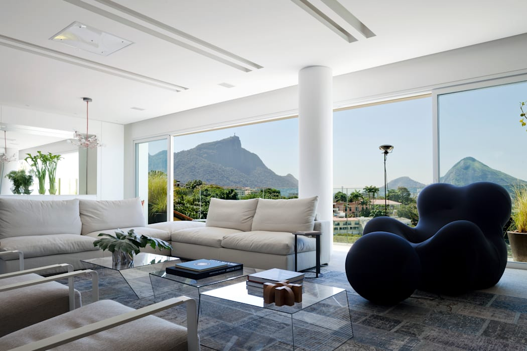 Mirante House Modern Living Room by Gisele Taranto Arquitetura Modern
