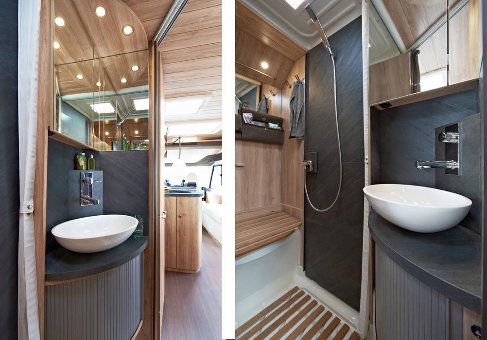 chalet mobil von eura mobil rustikale badezimmer von nadine k mmel design homify. Black Bedroom Furniture Sets. Home Design Ideas