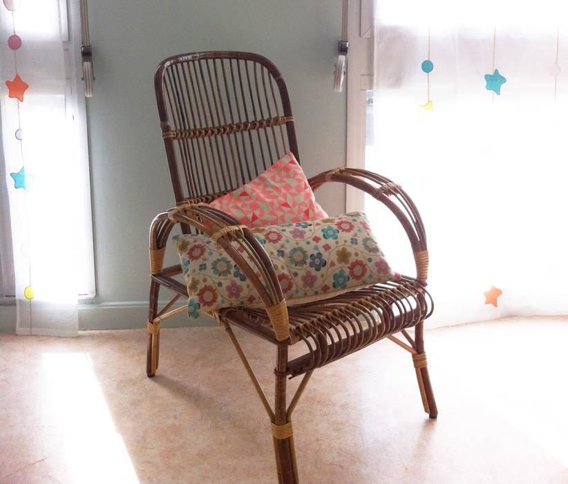 Fauteuil en osier: Chambre d'enfant de style  par Judith Wolff Architecte d'intérieur