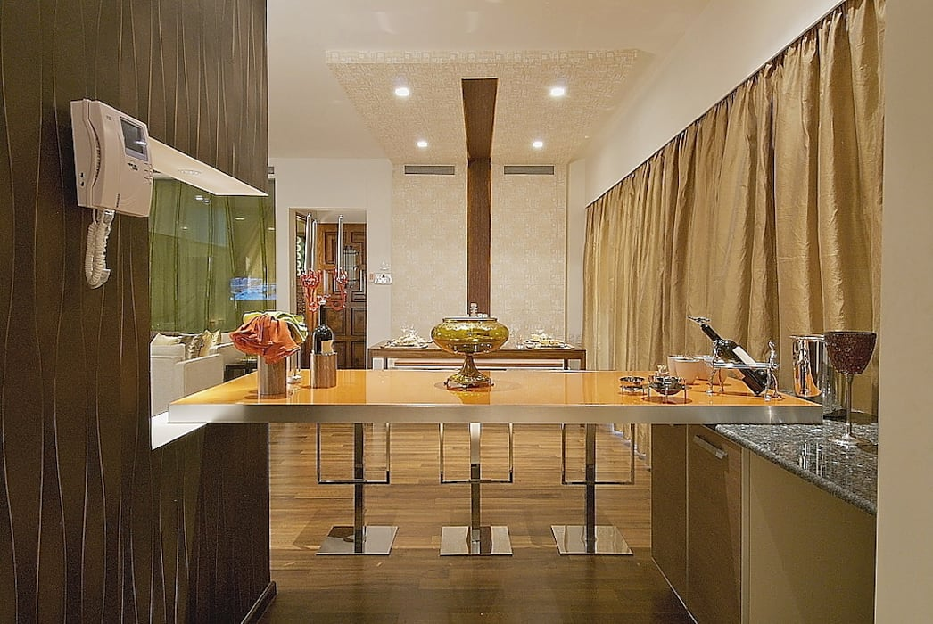 view of dining from kitchen Modern houses by shahen mistry architects Modern