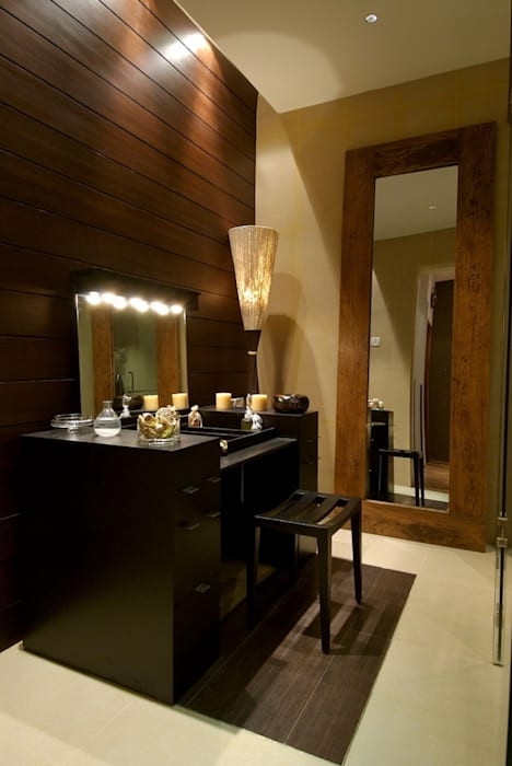 master toilet dresser area Modern houses by shahen mistry architects Modern