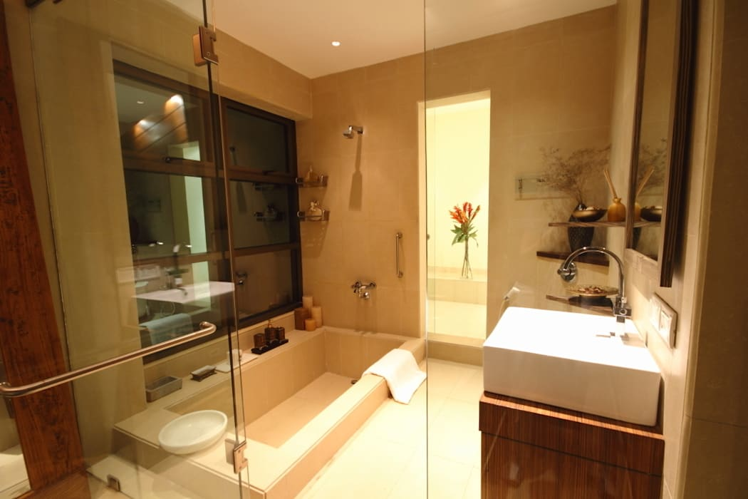 master bath room Modern houses by shahen mistry architects Modern
