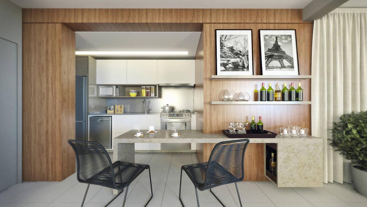 APTO VM Cozinhas modernas por AF Arquitetura Moderno
