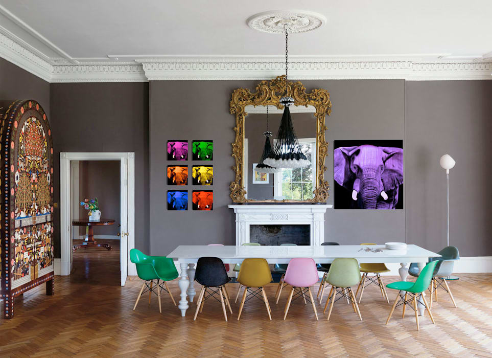 Home In-situ animal paintings Dining room by Thierry Bisch - Peintre animalier - Animal Painter