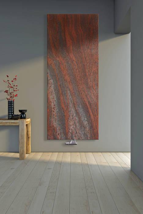 Designheizkörper aus granit twilight red: flur, diele & treppenhaus ...
