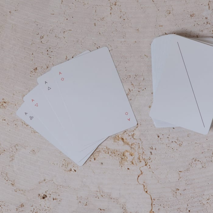contemporary playing cards: minimalist  by Fate London, Minimalist