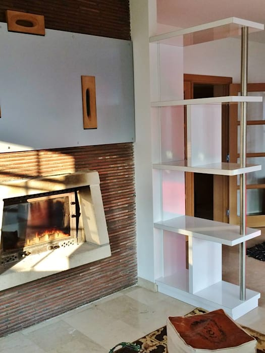 Bibliothèque-claustra salon moderne par archi\'in maison d ...
