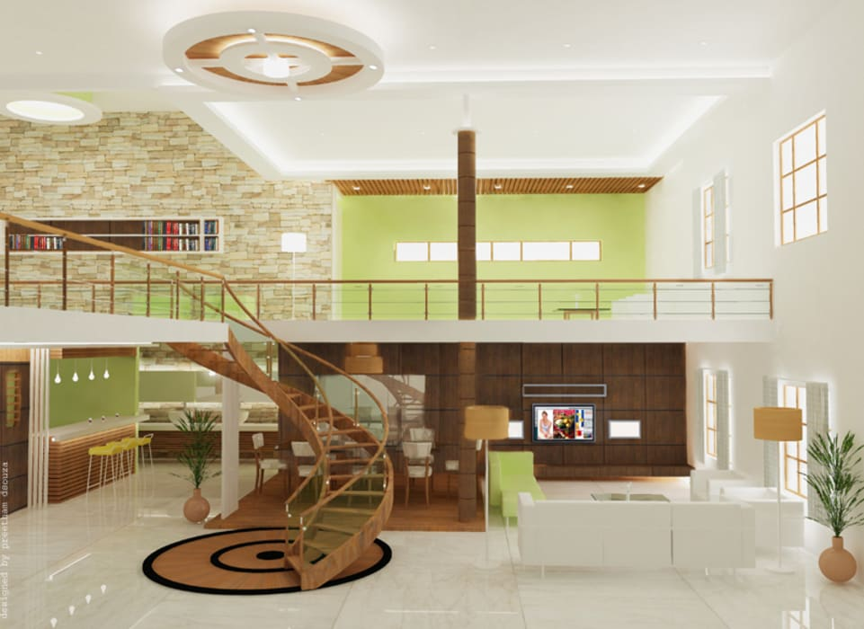 Living room by Preetham  Interior Designer