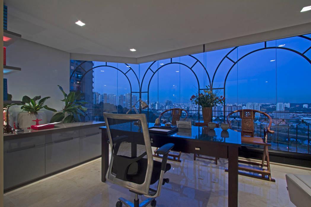 Apartamento Casal com filhos: Salas de estar  por Jóia Bergamo - Arquitetura e Design de Interiores,Moderno