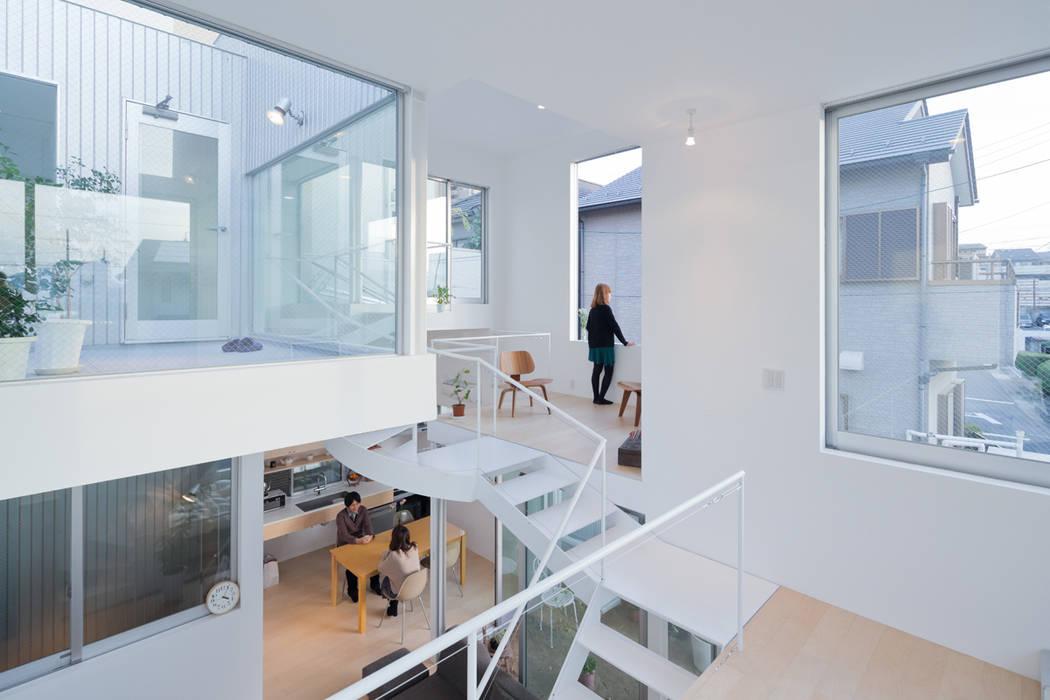 House in Chayagasaka Ruang Keluarga Modern Oleh 近藤哲雄建築設計事務所 Modern
