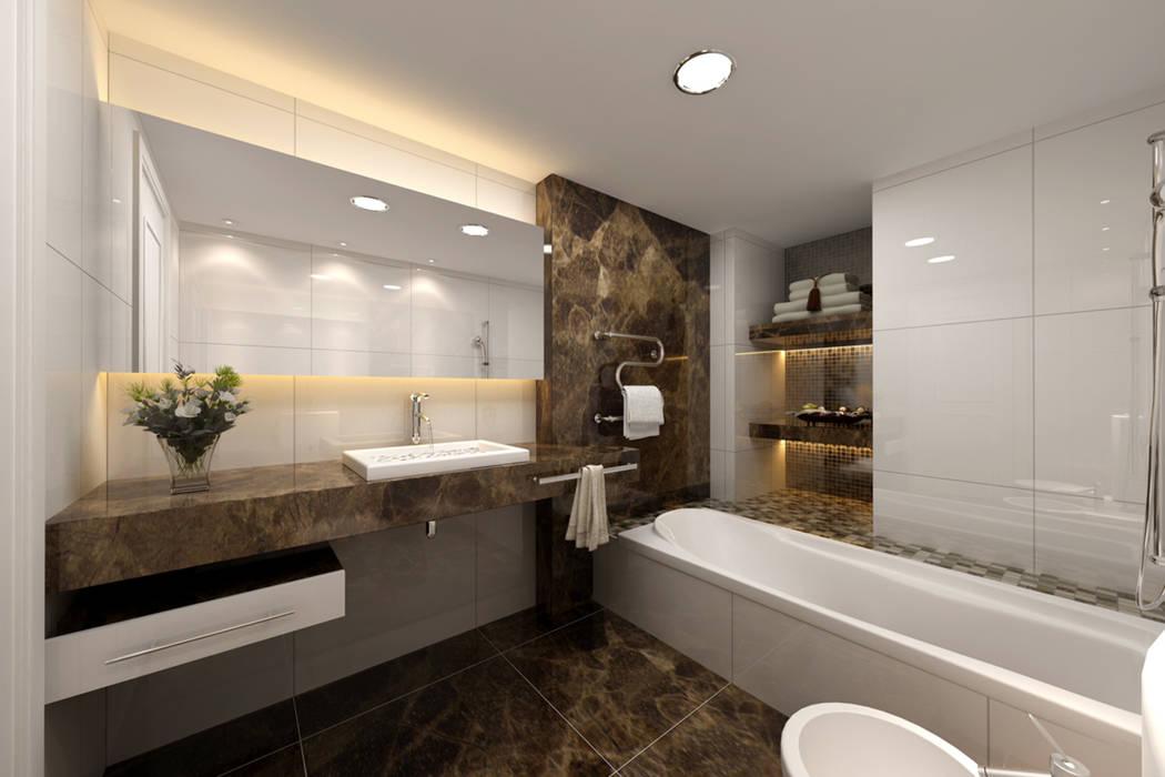 Bagni In Marmo Di Carrara : Interni bagni bagno in stile di marmi di carrara homify