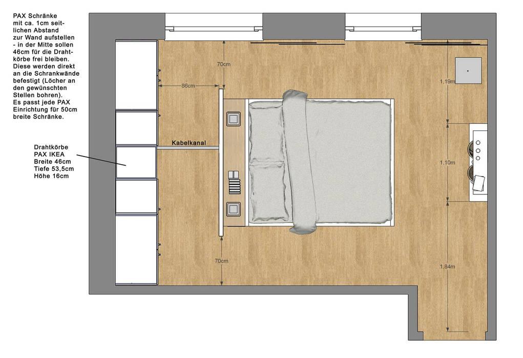 Wunderbar Schlafzimmer Wohnung P. | Betthaupt Als Raumteiler: Moderne Schlafzimmer  Von Innenarchitektur | Ina Nimmrichter
