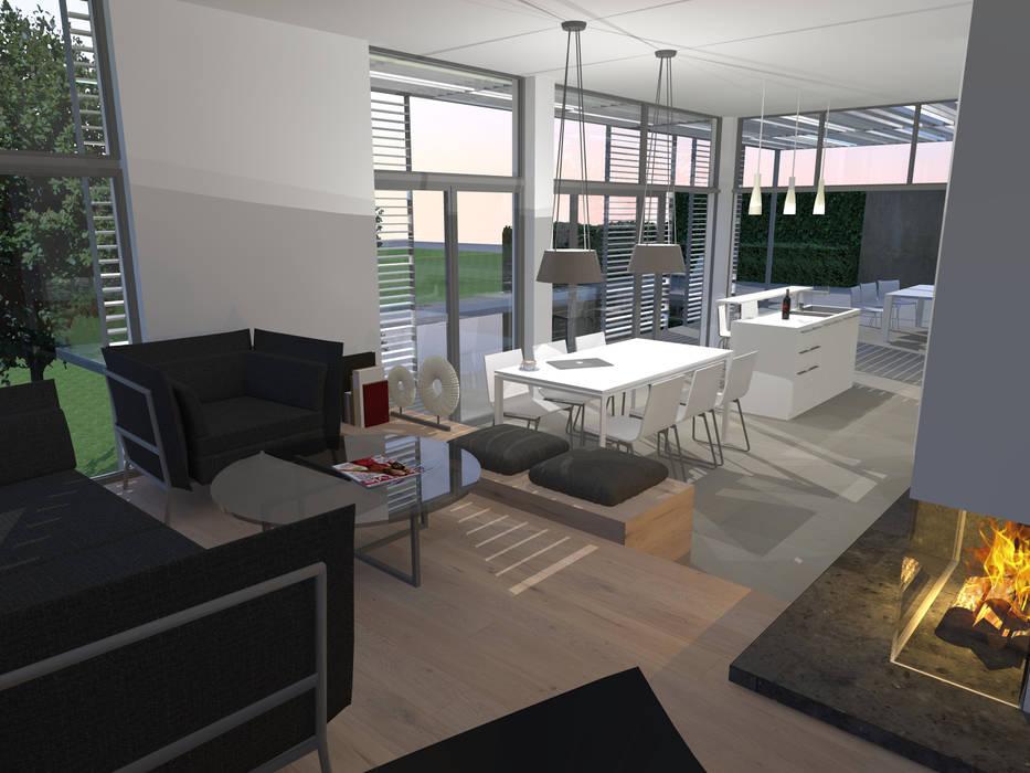moderne innenarchitektur einfamilienhaus, haus am hang: moderne häuser von innenarchitektur | ina nimmrichter, Design ideen