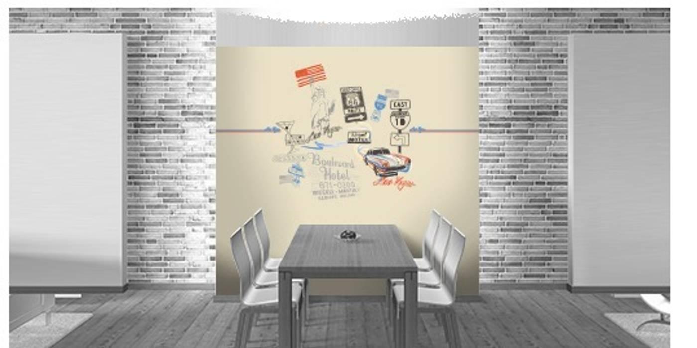 Tapeten selbst gestalten: wohnzimmer von style-your-castle.de | homify