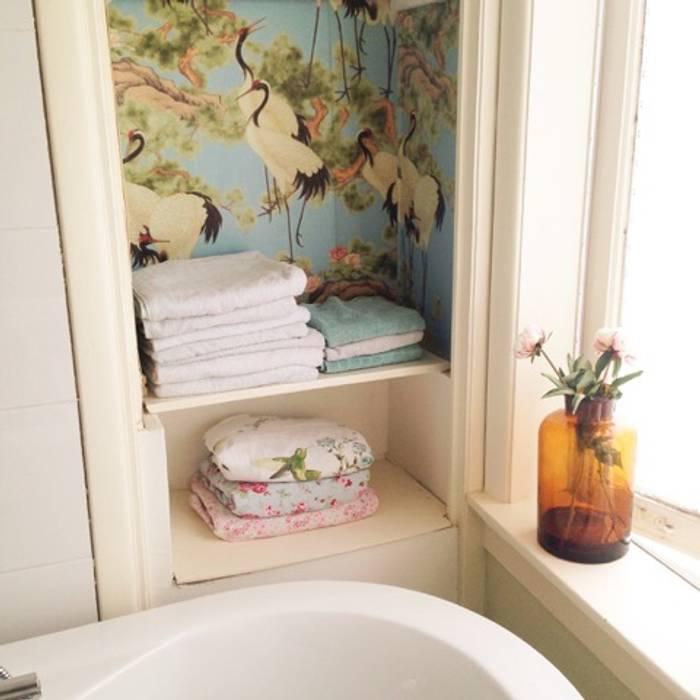 Rustic style bathroom by Retroloekie Rustic
