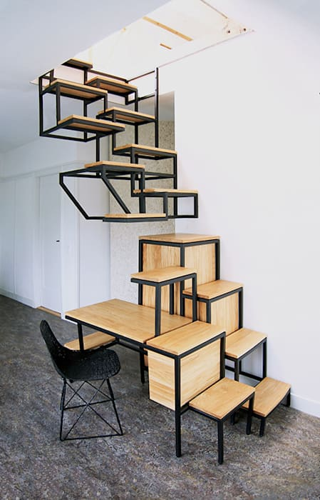 인더스트리얼 복도, 현관 & 계단 by Studio Mieke Meijer 인더스트리얼
