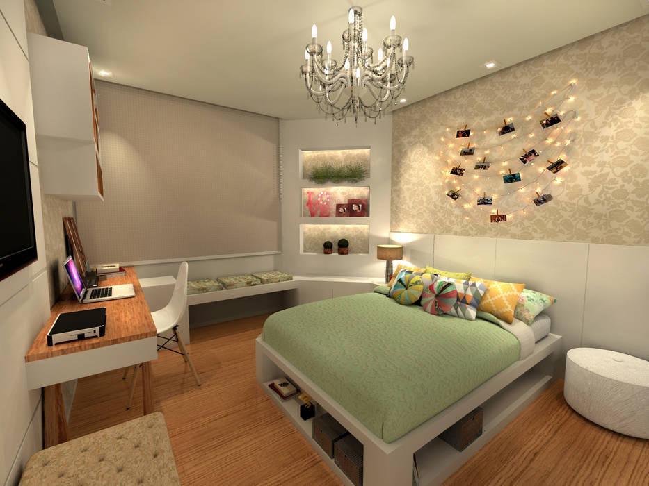 Quarto Júlia - RJ Quartos modernos por Konverto Interiores + Arquitetura Moderno