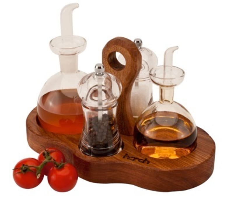 Harch Condiments Caddy par Harch Wood Couture Éclectique