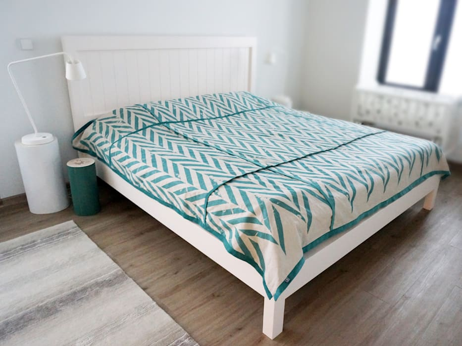 ZIGZAG printed linen bedding by Lovely Home Idea LOVELY HOME IDEA BedroomTextiles