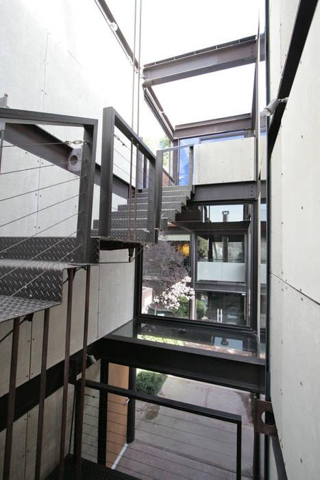Casa Lau: Pasillos y recibidores de estilo  por Serrano Monjaraz Arquitectos