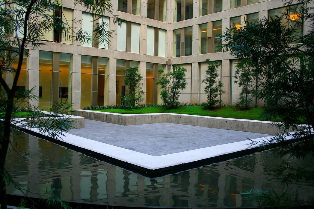 Puerta Alameda: Terrazas de estilo  por Serrano Monjaraz Arquitectos, Moderno
