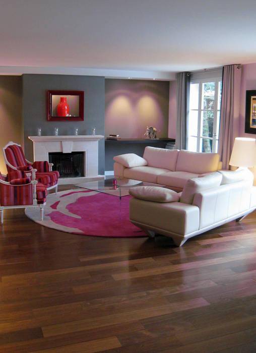 Salon et couleur: Maisons de style  par Philippe Ponceblanc Architecte d'intérieur