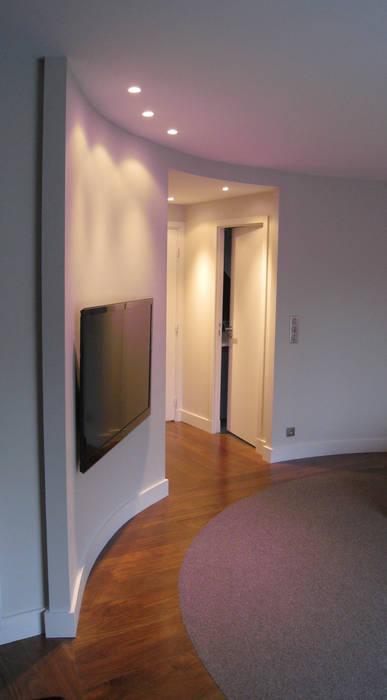 Cloison cintrée en chambre Maisons par Philippe Ponceblanc Architecte d'intérieur