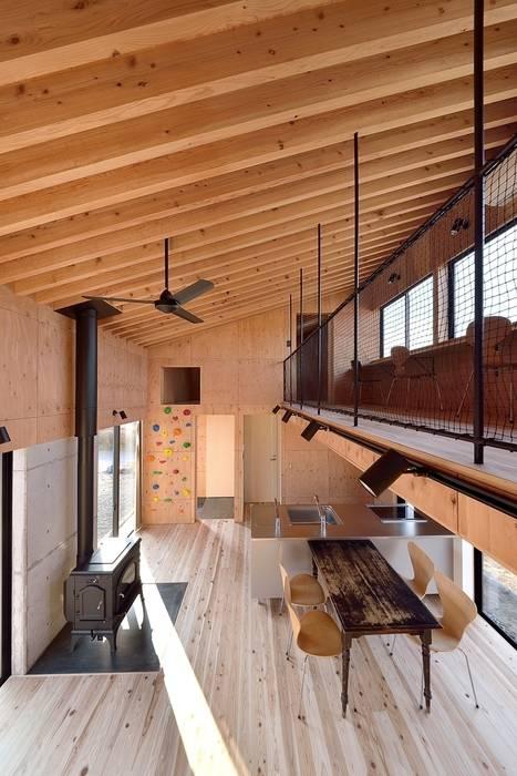Ruang Makan Modern Oleh 株式会社長野聖二建築設計處 Modern
